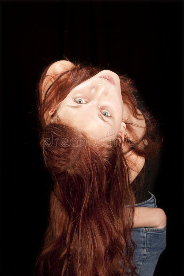 Download Upside down redhead stock image. Image of pose, model - 12732211
