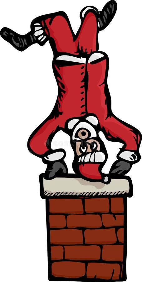 Upside-Down Santa Royalty Free Stock Photo