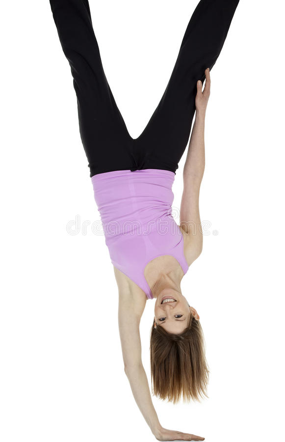 Upside Down Woman stock photos