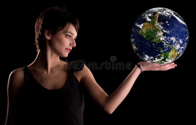 Upside down world stock photo