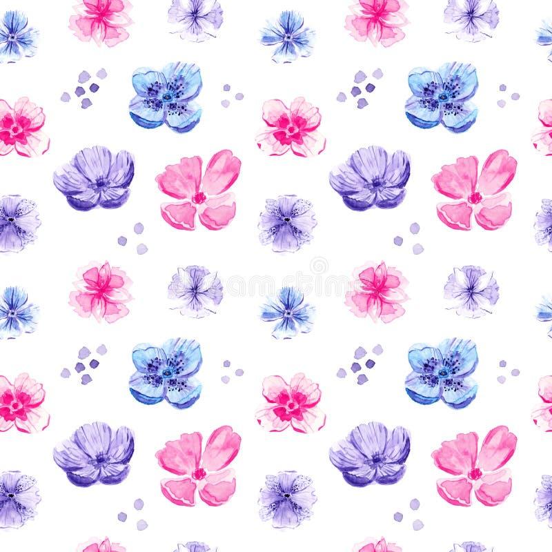 Άνευ ραφής σχέδιο με τα λουλούδια απεικόνιση αποθεμάτων
