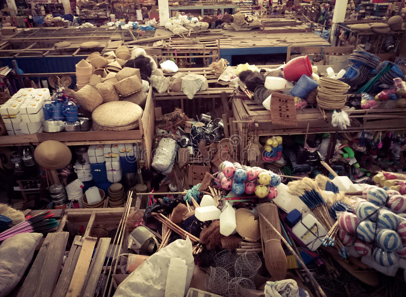 Upstair του παραδοσιακού στάβλου αγοράς στοκ εικόνες