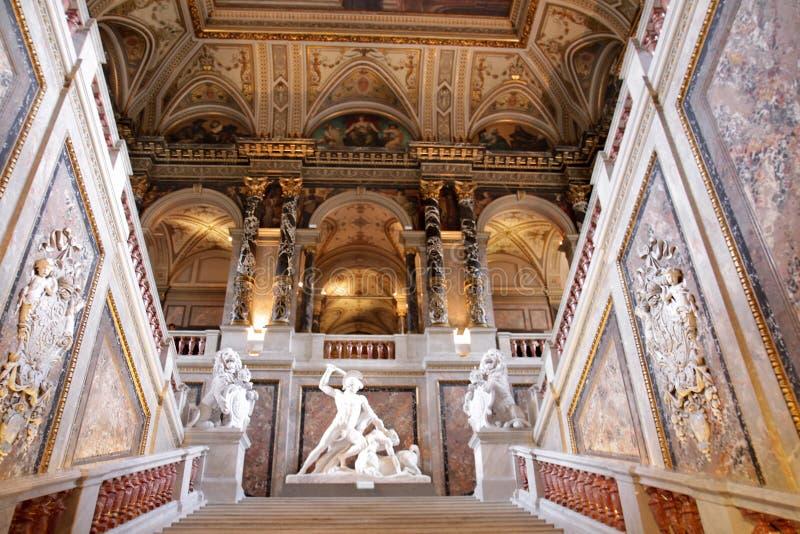 Upstair in einem Kunsthistorisches Museum, Wien lizenzfreie stockbilder