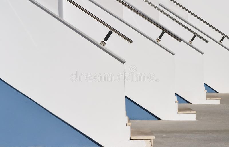 Upstairs to modern homes royalty free stock photos