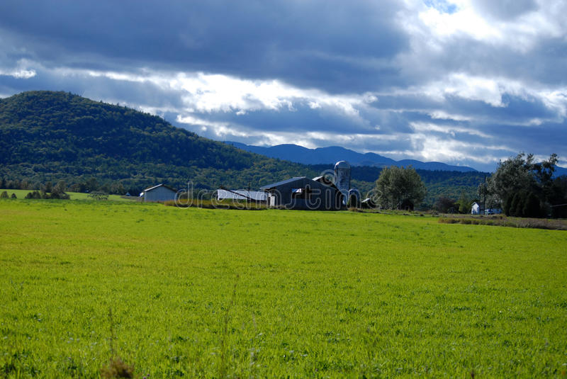 Upstate New York farm land and buildings in autumn royalty free stock photos