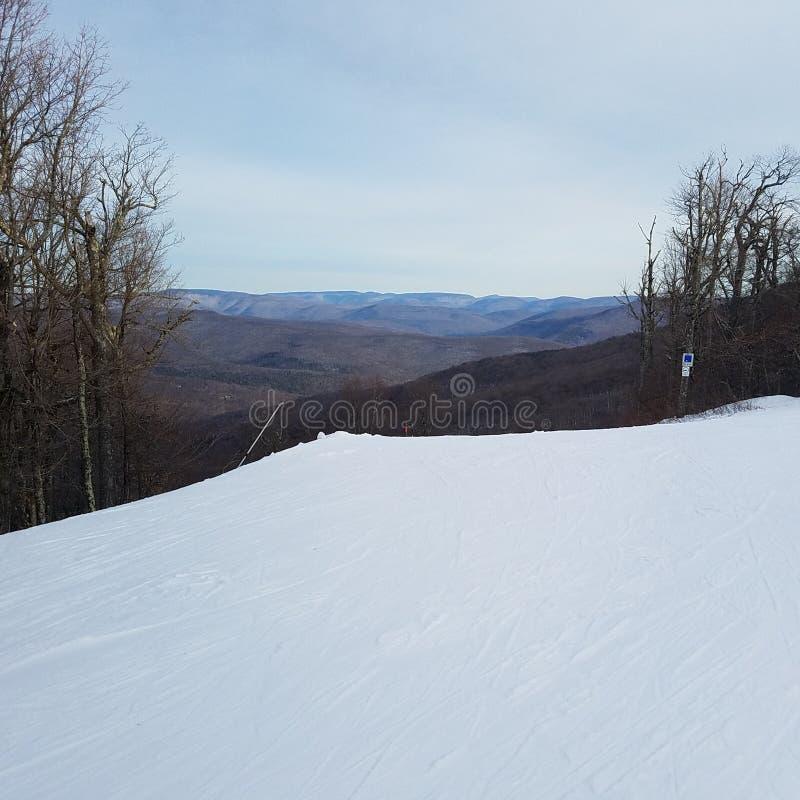 Upstate New York Skii Slope royalty free stock photos