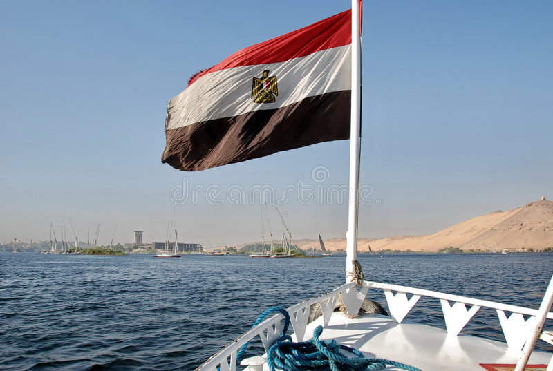 Upstream The Nile royalty free stock image