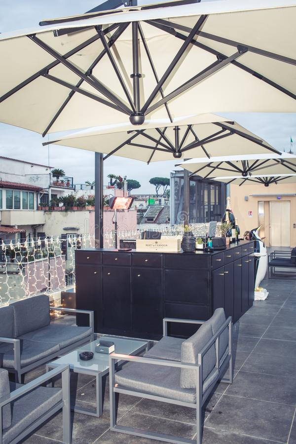 UPsunset Bar La Rinascente Rome stock photos