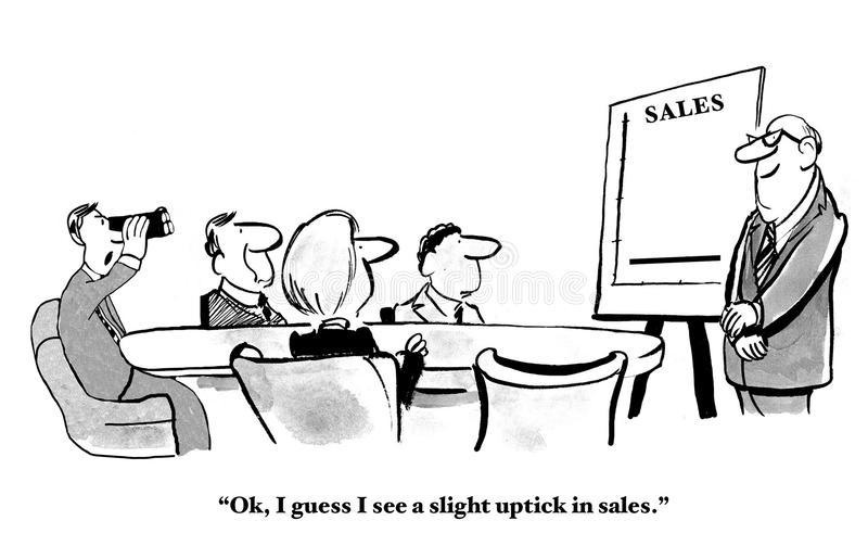 Uptick i försäljningar vektor illustrationer