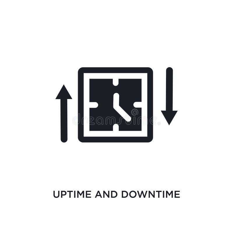 uptime και απομονωμένο χρόνος διακοπής εικονίδιο απλή απεικόνιση στοιχείων από τα εικονίδια έννοιας τεχνολογίας uptime και χρόνου ελεύθερη απεικόνιση δικαιώματος