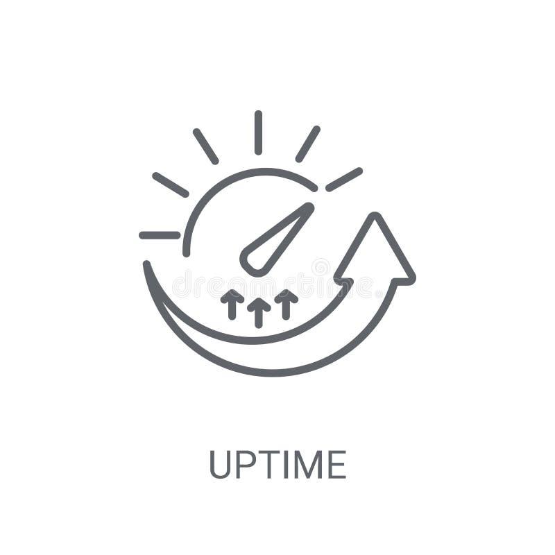 Uptimepictogram In Uptime-embleemconcept op witte achtergrond van vector illustratie