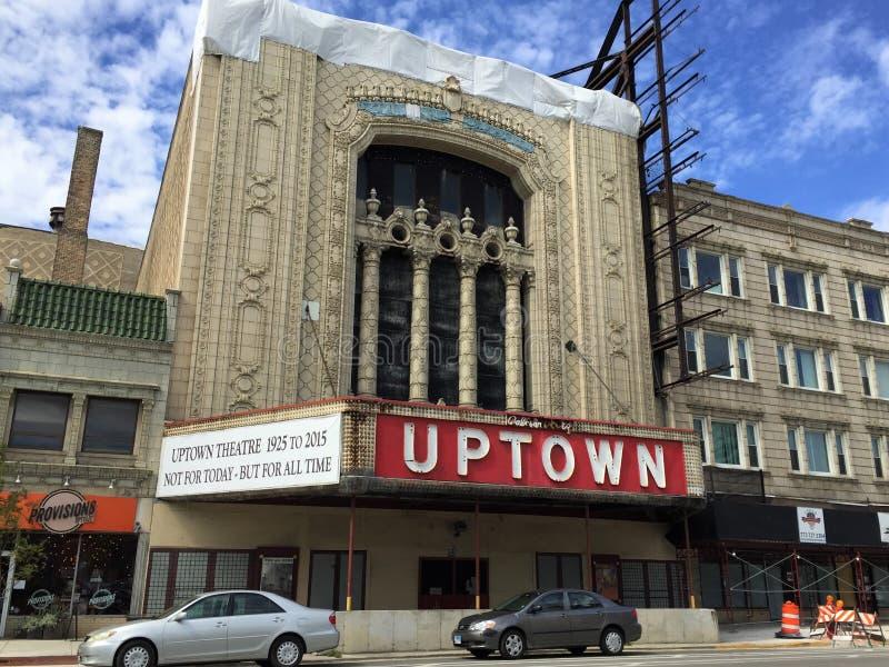Uptownteater, Chicago, Illinois royaltyfri bild