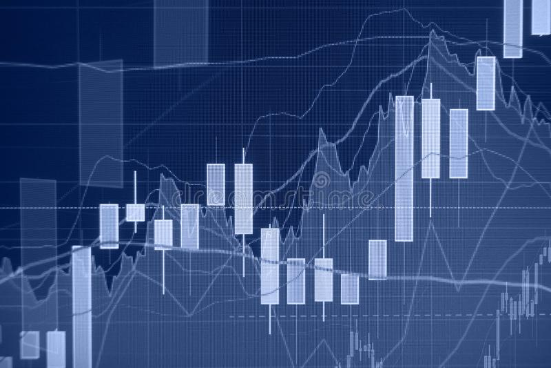 Uptrend - χρηματιστήριο - οικονομικό υπόβαθρο στοκ φωτογραφίες