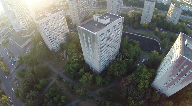 Upview de la ciudad fotografía de archivo libre de regalías