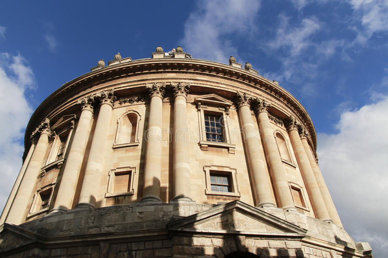Upward angle view of the Radcliffe Camera, University of Oxford royalty free stock photos
