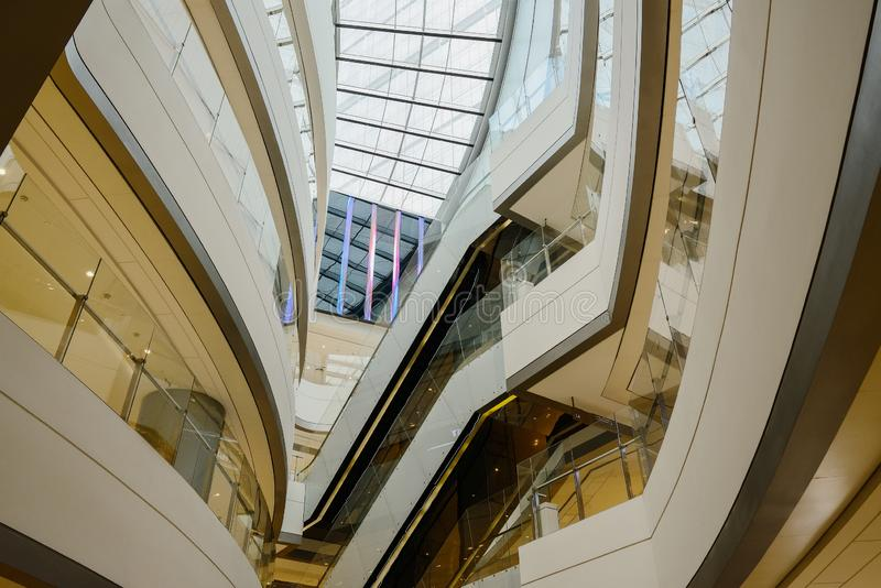 Upward interior at IFS plaza,Chengdu. China royalty free stock photos