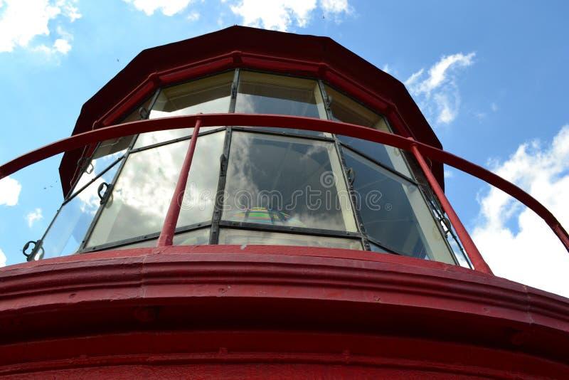Lighthouse lantern room, St. Augustine, Florida stock photography