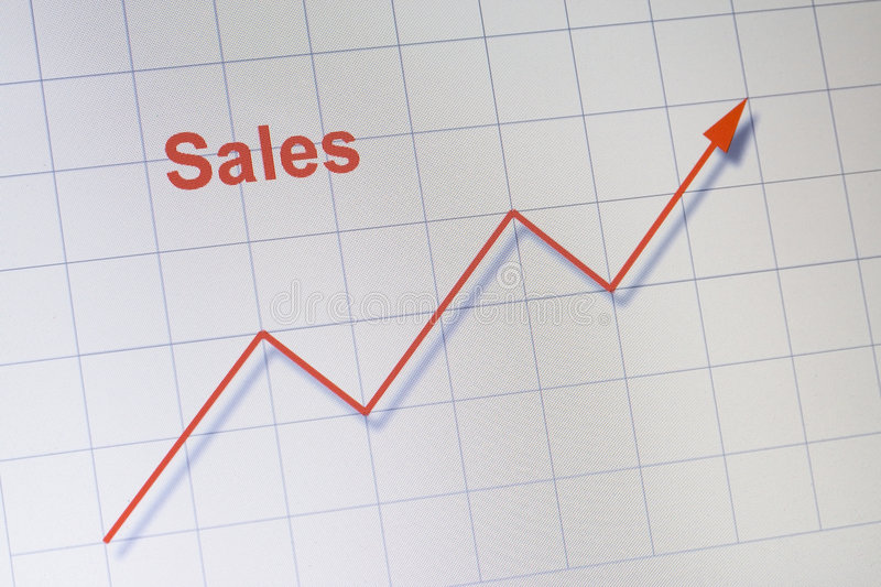 Download Upward sales chart stock photo. Image of computer, expenses - 4960316