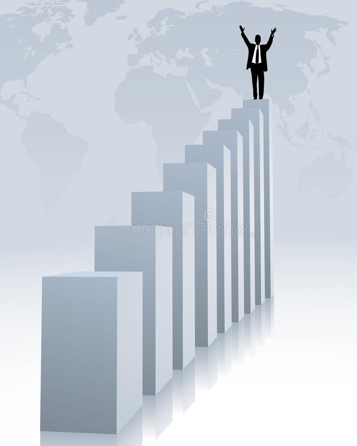 Download Upward trend stock vector. Image of figures, equity, earnings - 9710241
