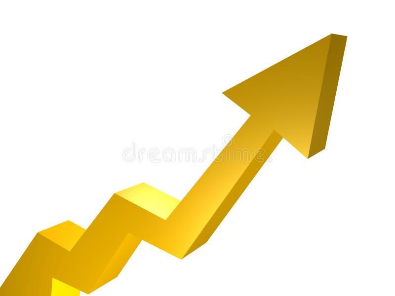 Download Upward trend arrow chart stock illustration. Image of report - 8224323