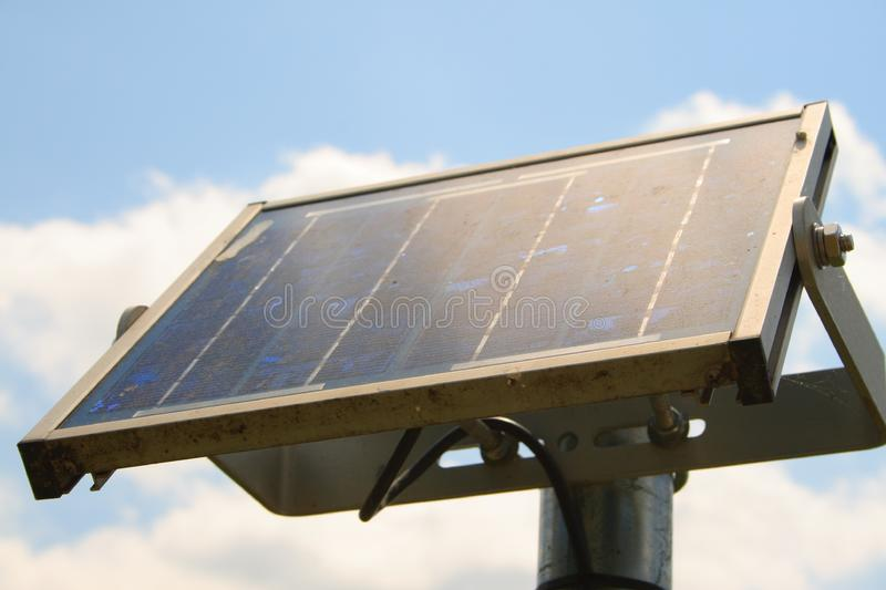 Upward view of a solar panel stock photography