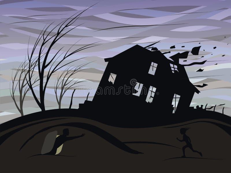 Uragano illustrazione di stock