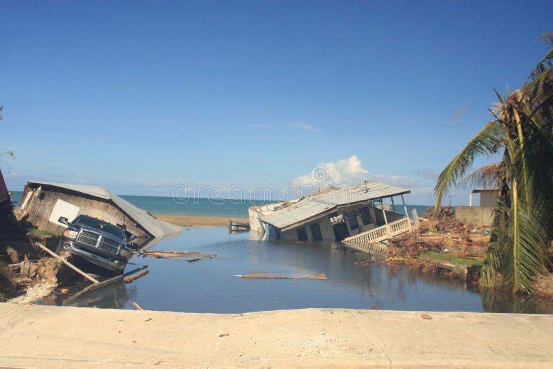Uragano Maria Mayaguez Puerto Rico immagini stock libere da diritti