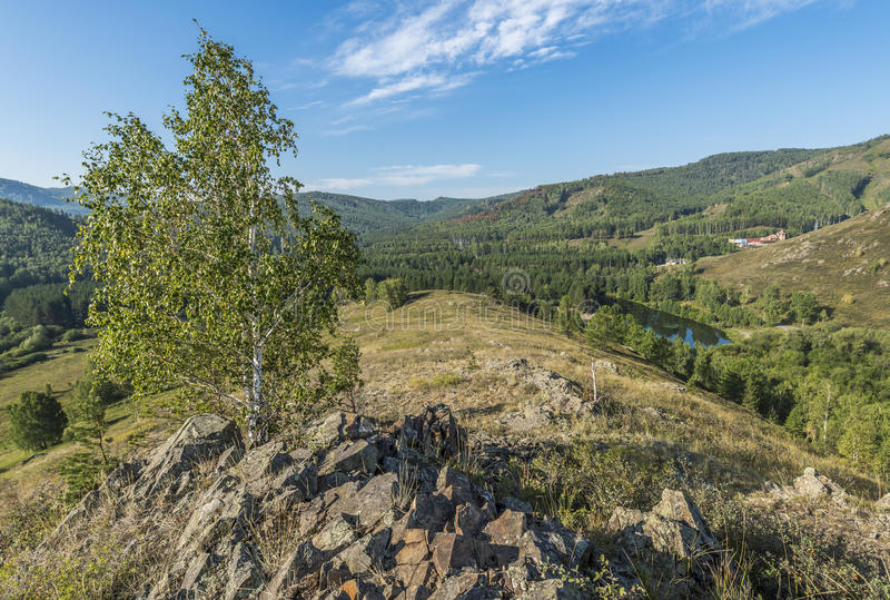 Ural berg i sommaren arkivbilder
