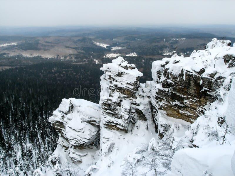 Ural góry, Polyud, Vishera, Rosja zdjęcie stock