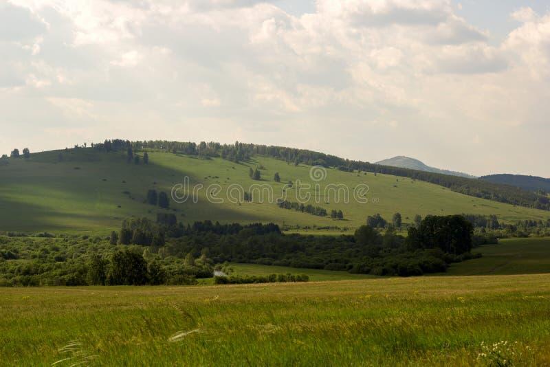 Ural góry w słonecznym dniu zdjęcie stock