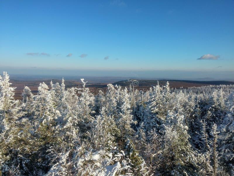 Ural góry, zima krajobraz obraz stock