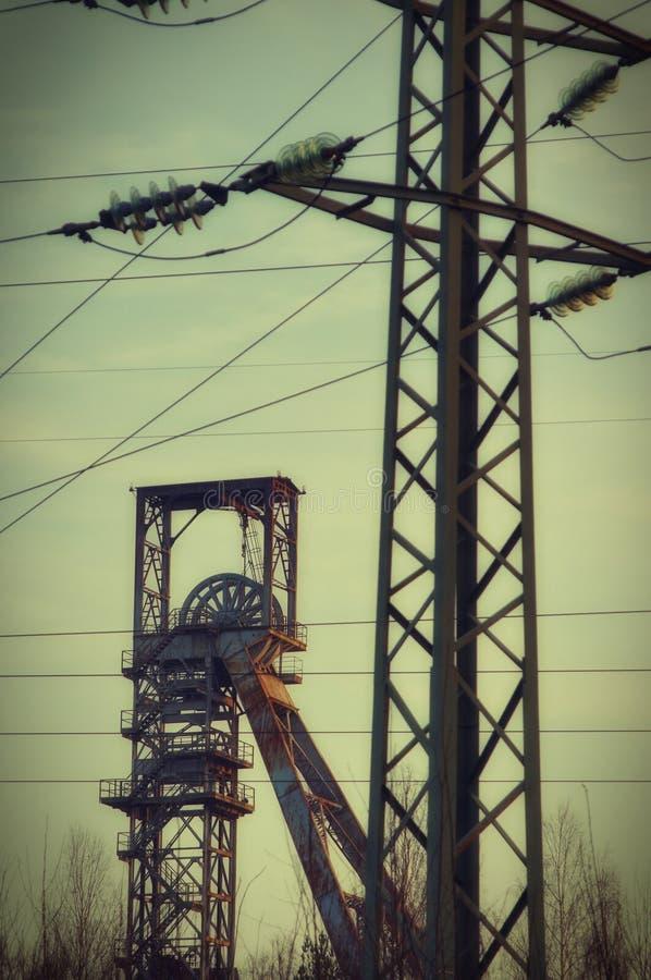 Uran Bergwerk Straz-Hülse Ralskem stockbilder