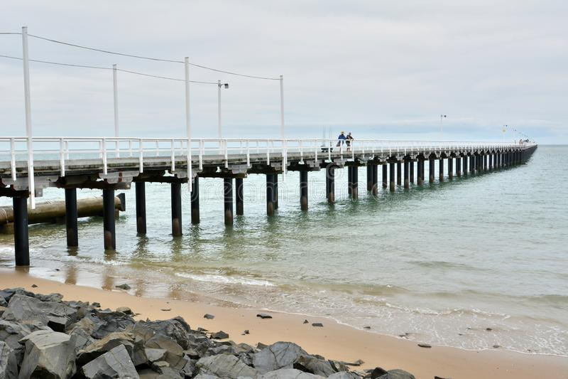 Urangan-Pier in Hervey Bay, Queensland stockfoto