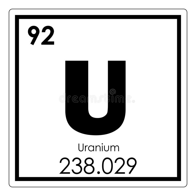 Uranium Chemical Element Stock Illustration Illustration Of