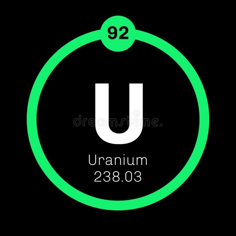 Uranium Chemical Element Stock Vector Illustration Of Periodic