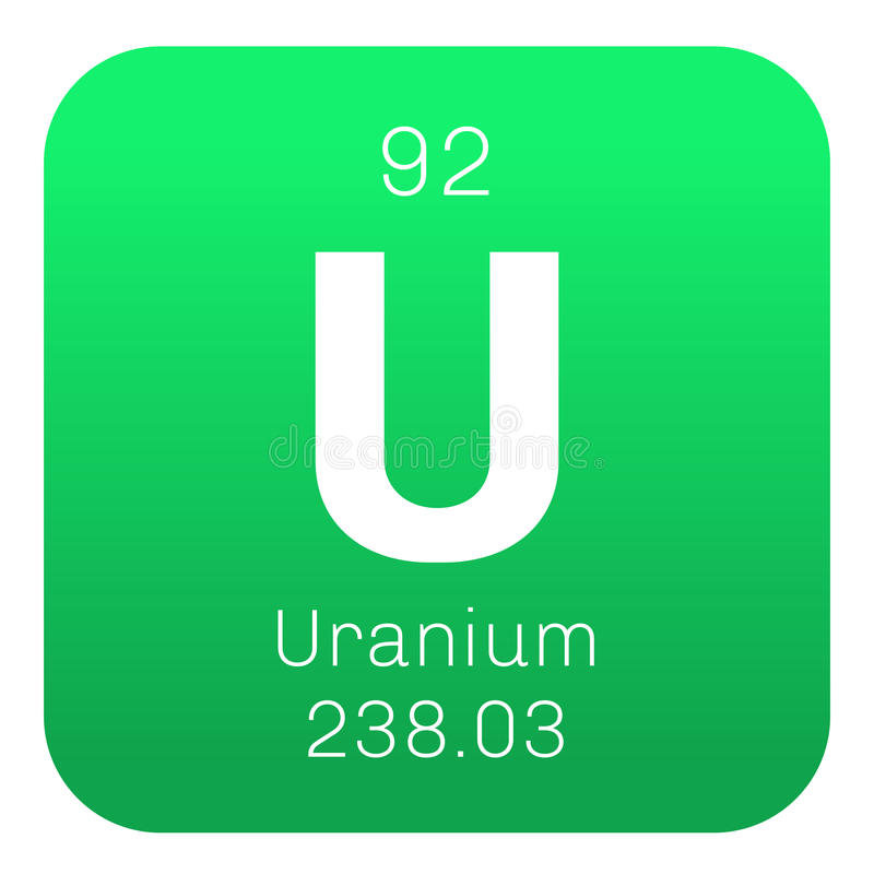 Uranium chemisch element stock illustratie