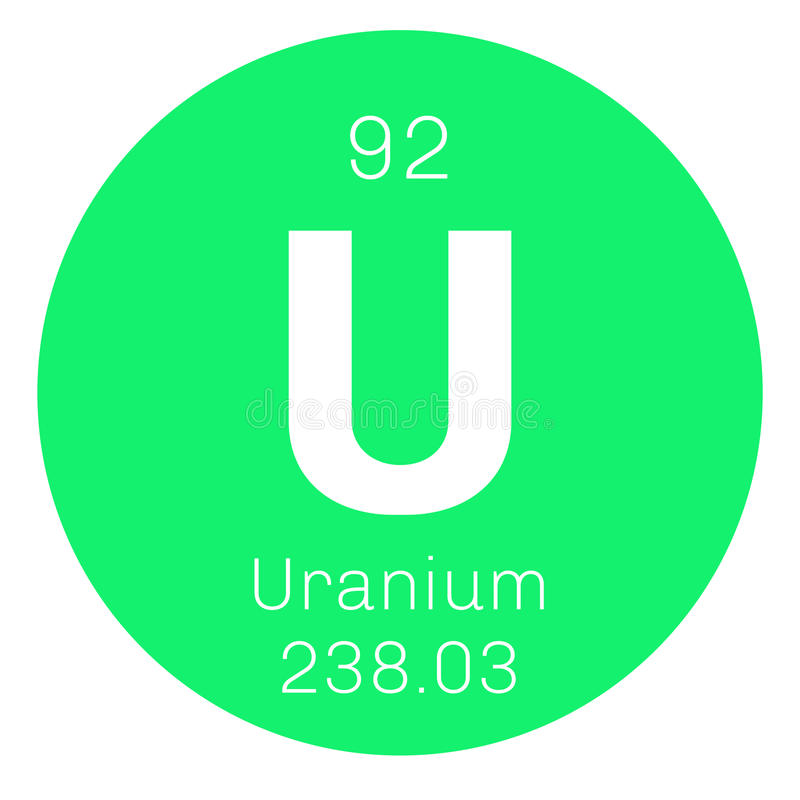 Uranium chemisch element vector illustratie