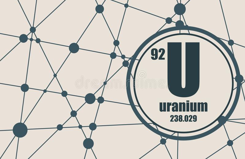Uranium chemisch element royalty-vrije illustratie
