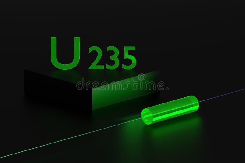 Uranium 235 glow vector illustration