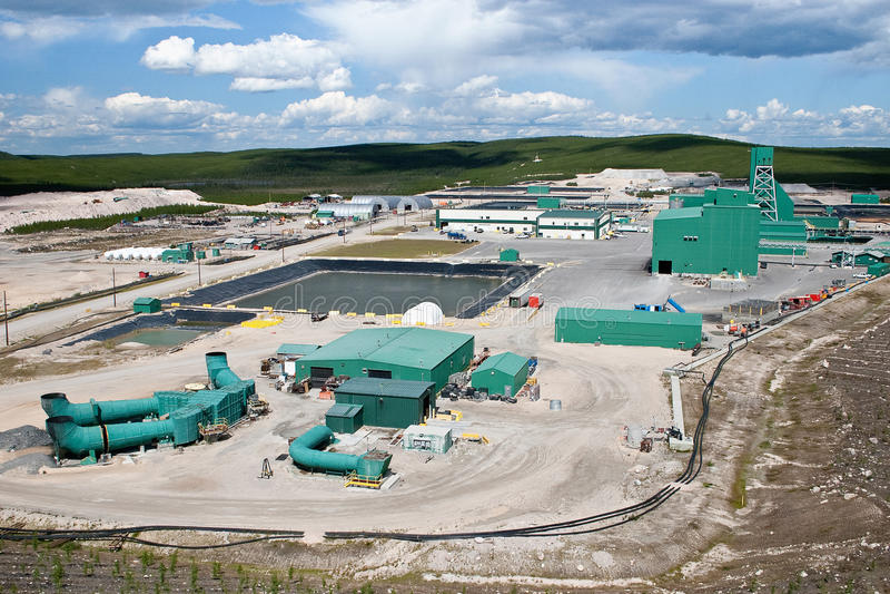 Uranium Gruben-Site in Nordkanada stockbild