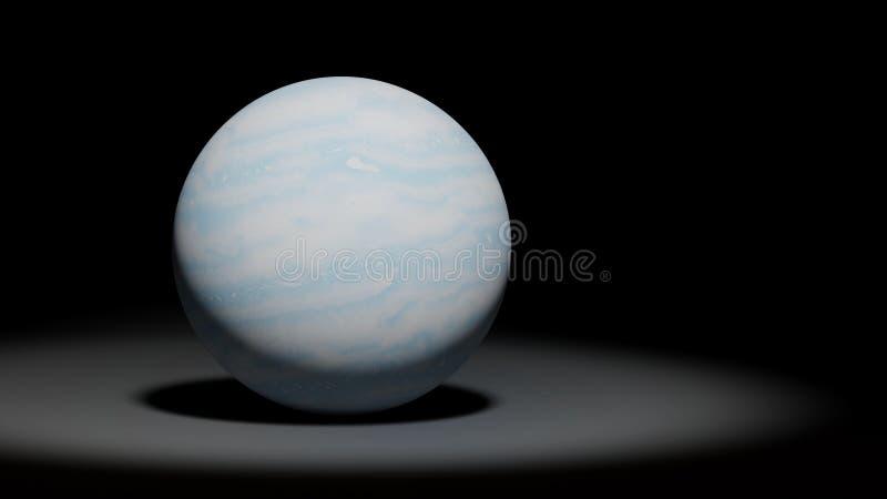 Urano do planeta, o gelo gigante, grupo do sistema solar ilustração stock