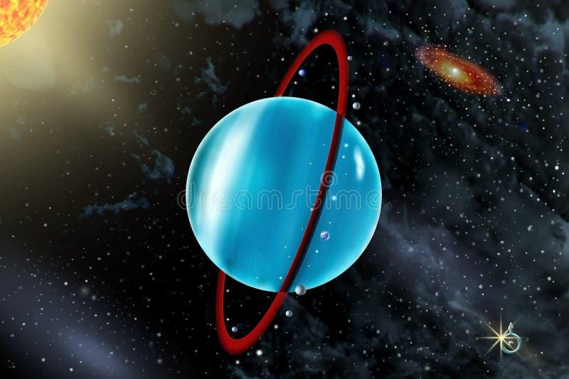 Urano - un séptimo planeta de la Sistema Solar foto de archivo libre de regalías