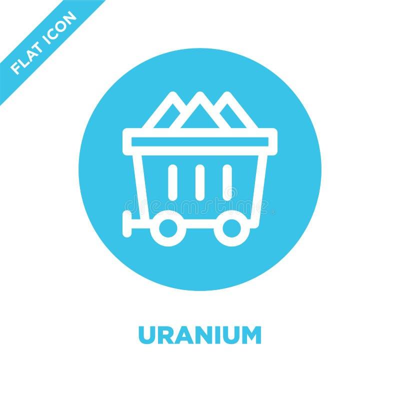 uransymbolsvektor Tunn linje illustration för vektor för uranöversiktssymbol uransymbol för bruk på rengöringsduken och mobila ap royaltyfri illustrationer