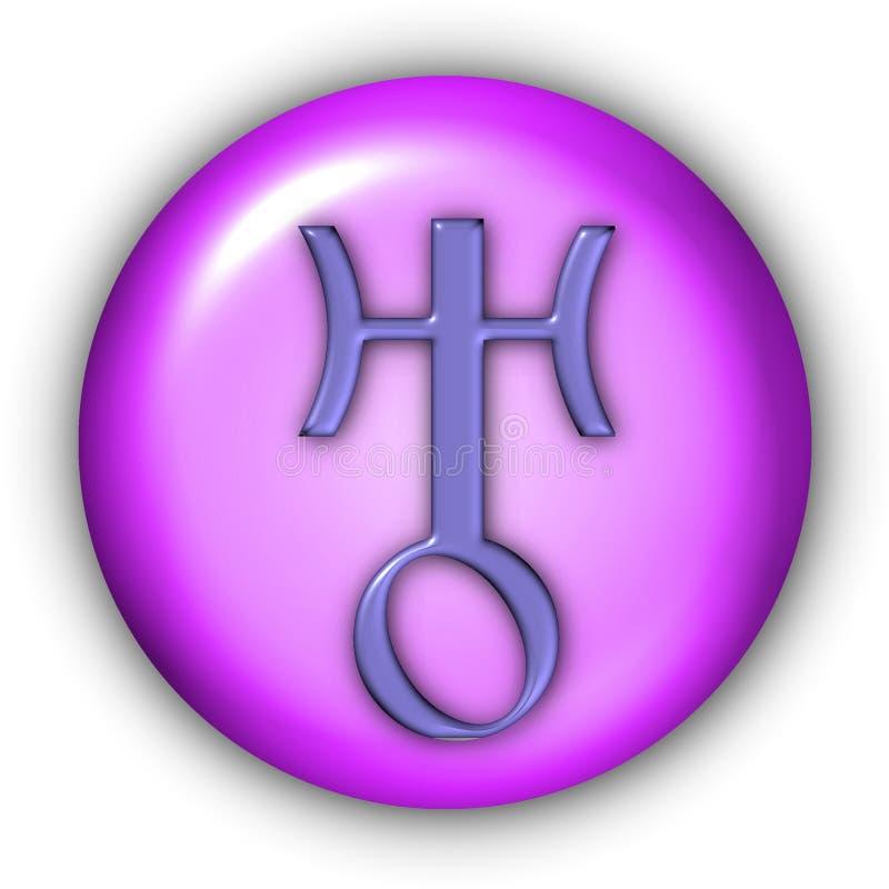 Uranus Glyphs. Planet Glyphs Button - Uranus (Include Clipping Path stock illustration