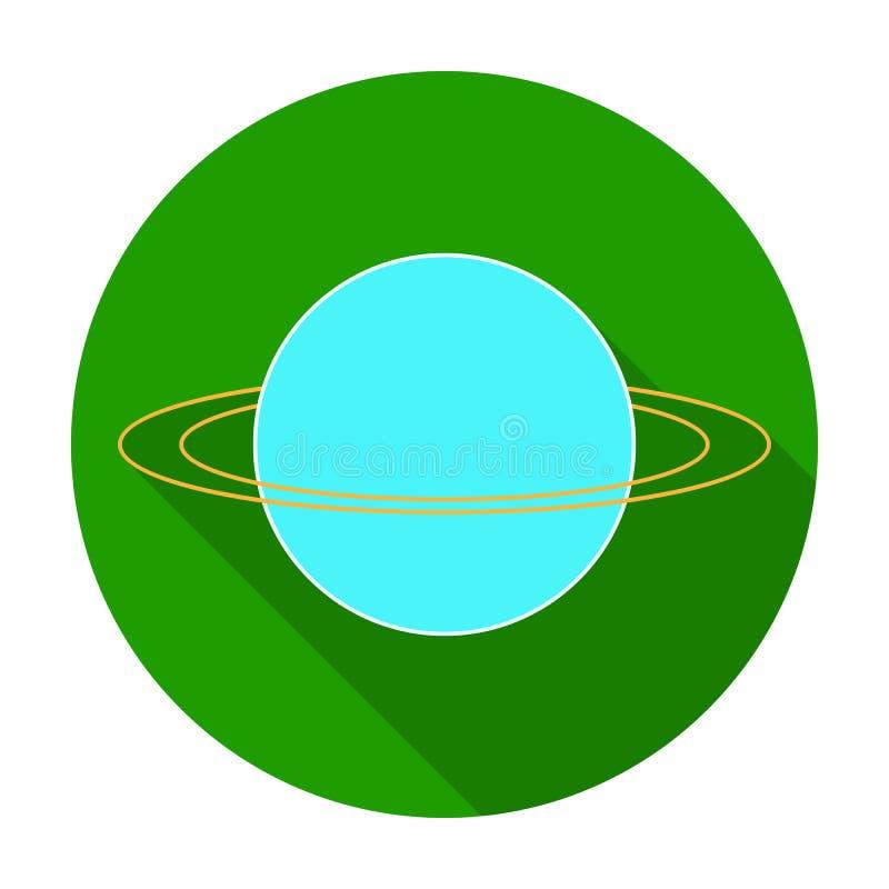 Uranus Icon In Flat Style Isolated On White Background Planets