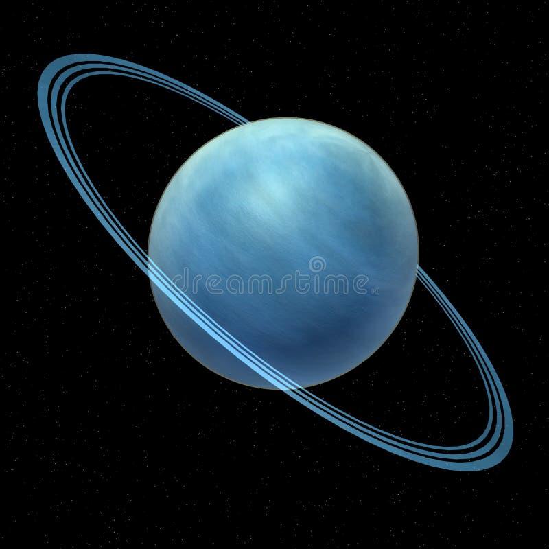 Uranus im Platz stock abbildung