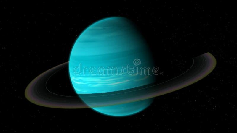 Uranus réaliste d'espace lointain illustration stock