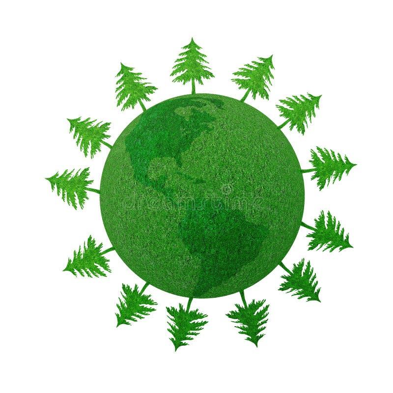 uratować lasy ilustracja wektor