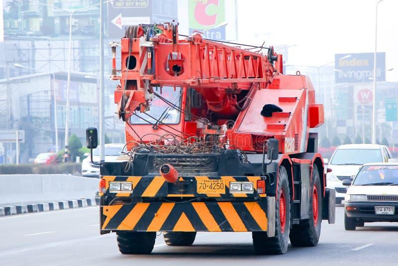 Żuraw ciężarówka obrazy royalty free