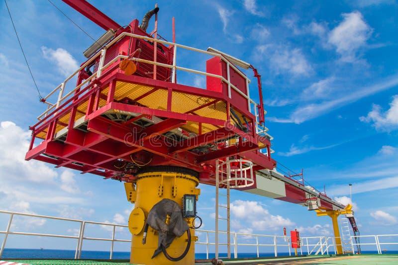 Żuraw ropa i gaz wellhead pilota platforma fotografia royalty free